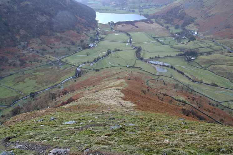 Looking back down High Hartsop Dodd's north ridge