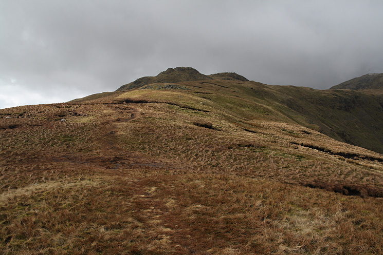 Little Hart Crag from approximately half along the ridge from High Hartsop Dodd