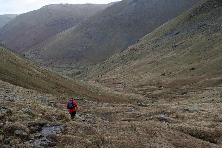 Descending into Caiston Glen