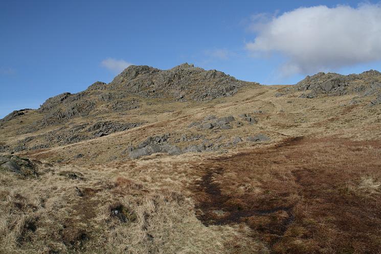 Looking towards Harter Fell's summit