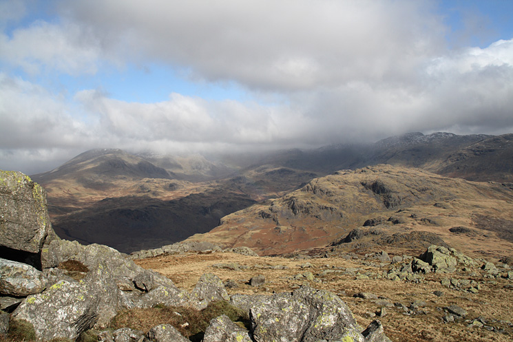 Hard Knott with upper Eskdale behind from our ascent of Harter Fell