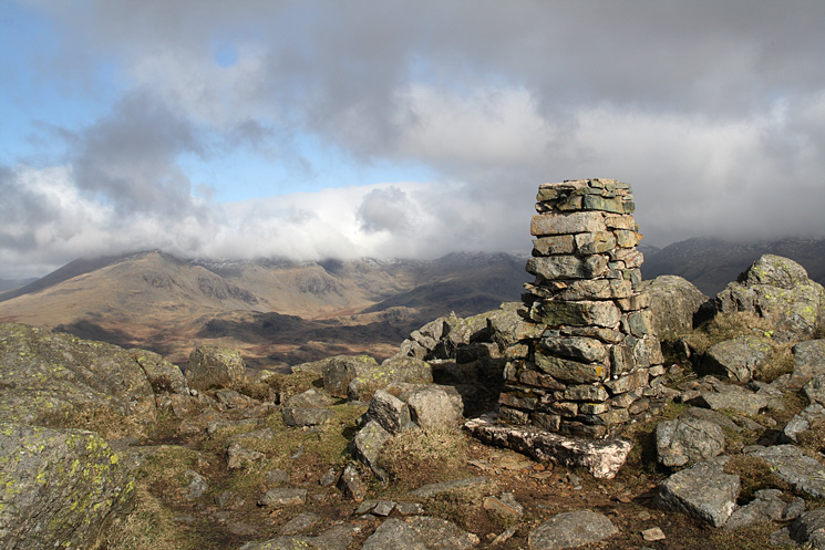 Upper Eskdale from Harter Fell's trig point