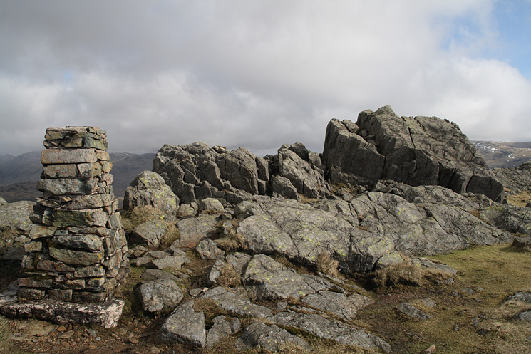 Harter Fell. The true summit from the 'official'