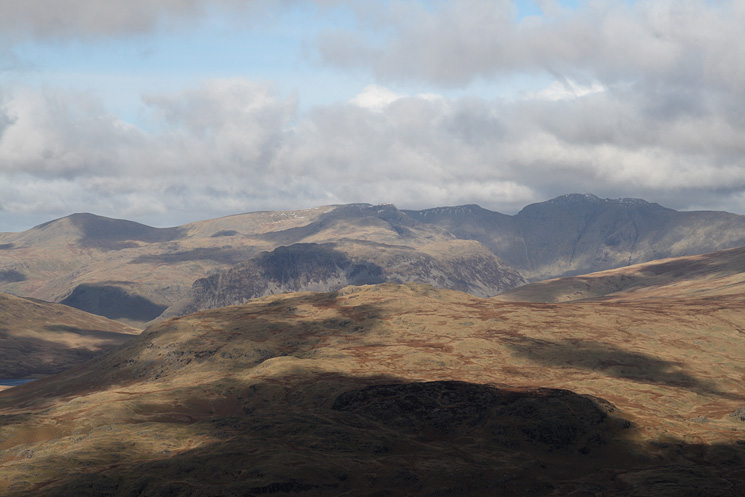 Looking over Great How to Haycock, Red Pike and Pillar