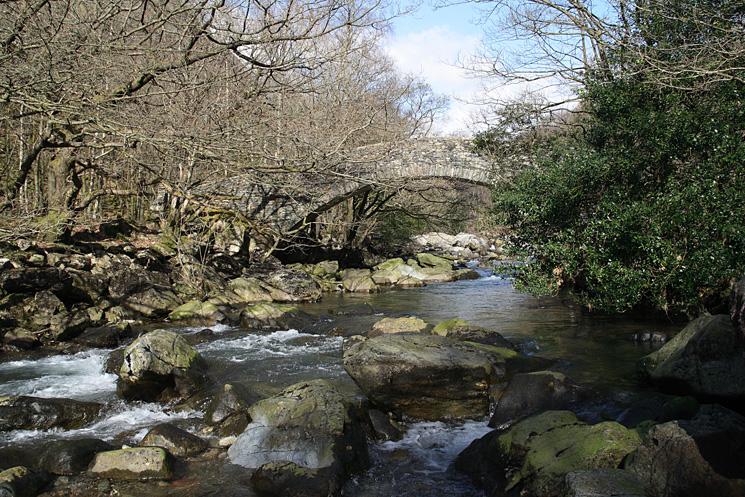 The memorial bridge across the River Duddon