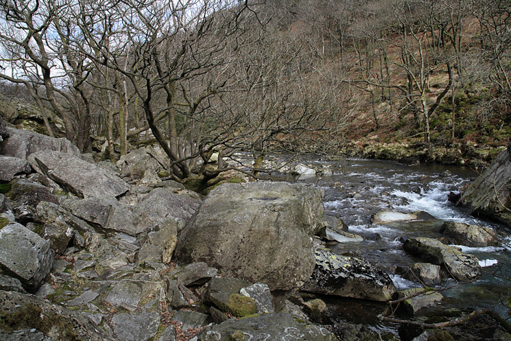 The River Duddon from the bouldery riverside path