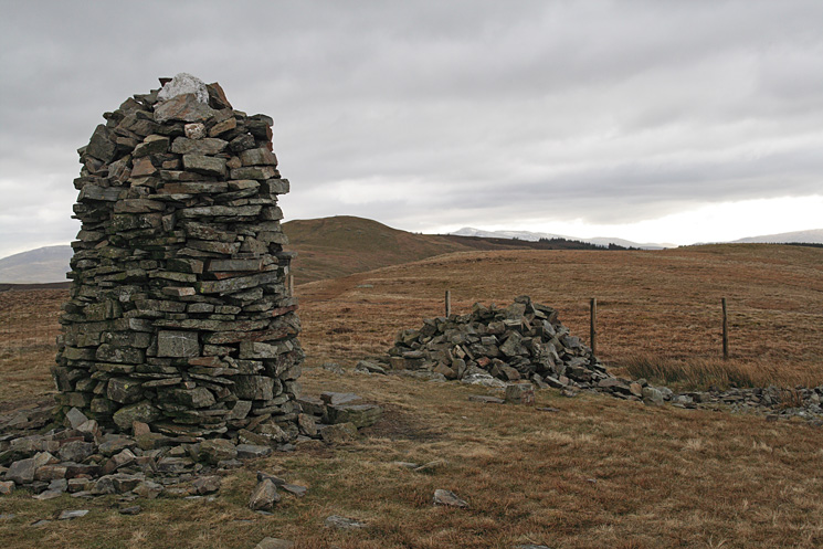 Broom Fell summit cairn, looking towards Lord's Seat