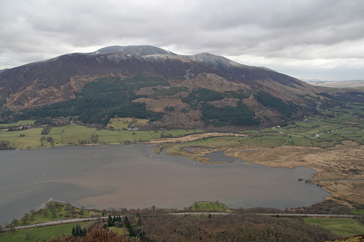 Looking over Bassenthwaite Lake to the Skiddaw fells from Barf's summit
