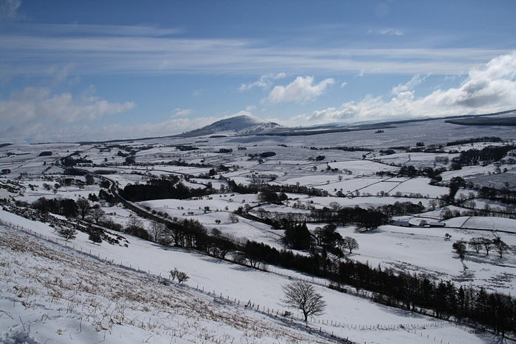 ...and across to Great Mell Fell