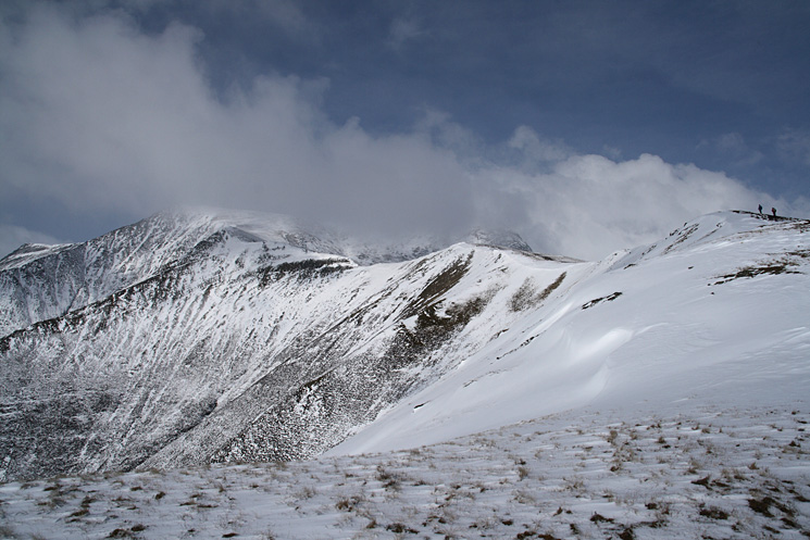 Scales Fell with Blencathra's summit currently in cloud
