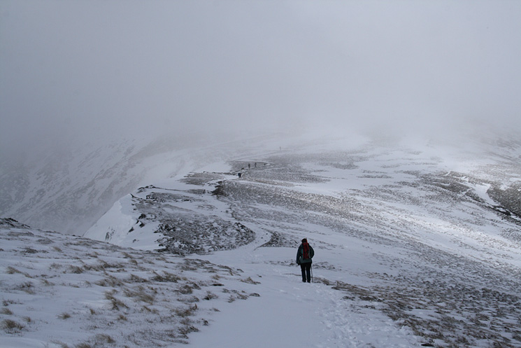Heading up Scales Fell