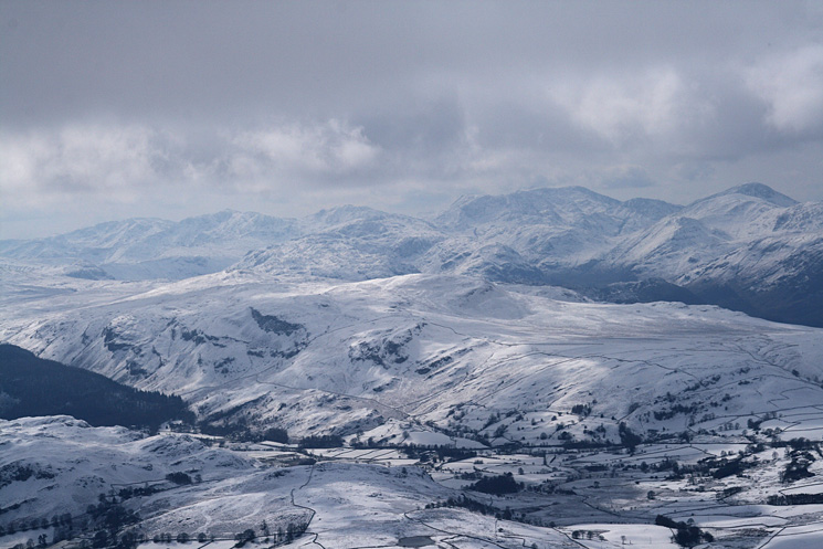 The high central fells from Blencathra's summit, how many can you name?