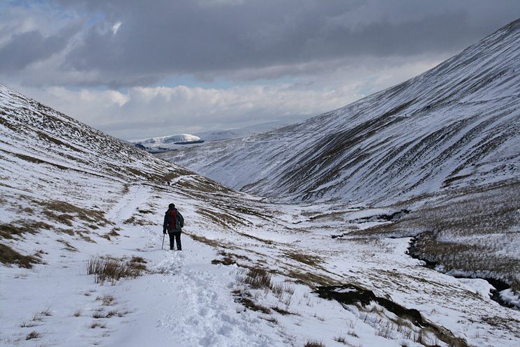 Heading down the valley of the River Glenderamackin