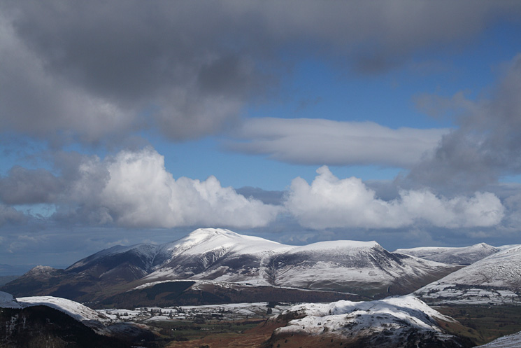 Skiddaw and Lonscale Fell to the north