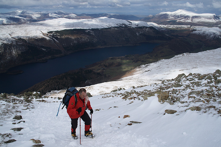 Thirlmere, High Seat with the north western fells behind and Skiddaw on the right