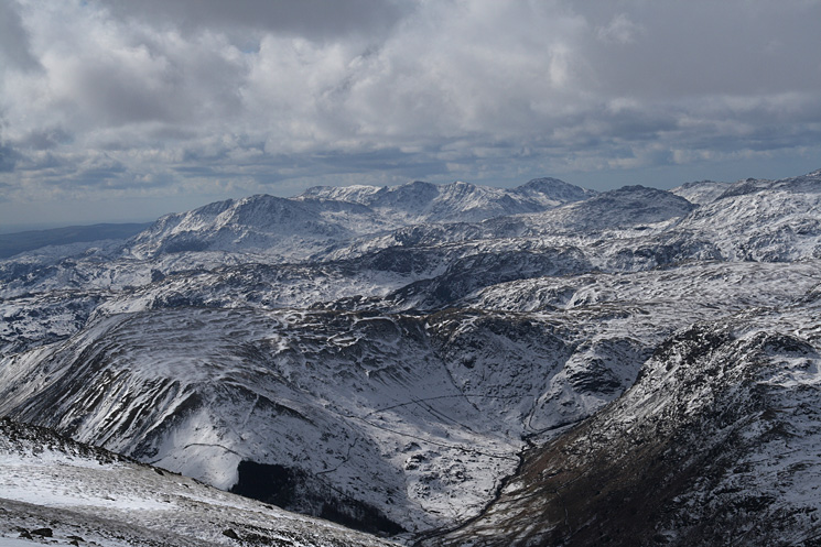 Looking over Steel Fell and the Wythburn valley to the Coniston fells