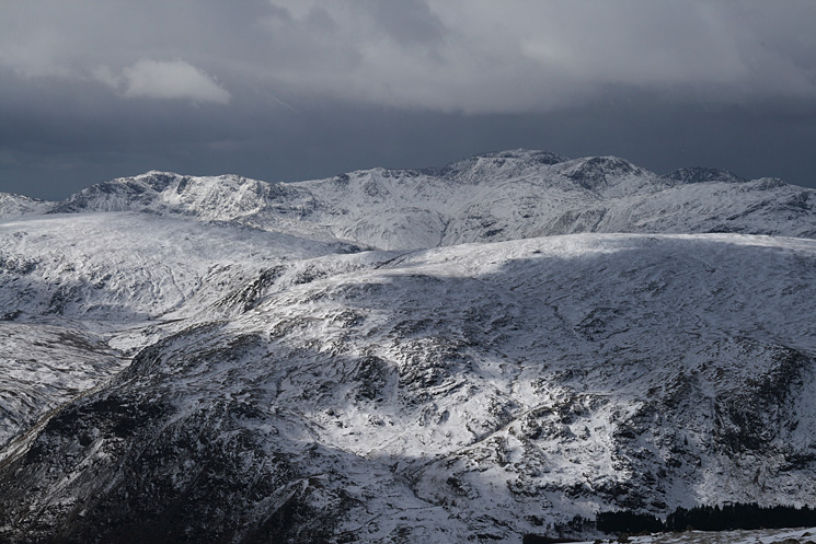 Bowfell, Esk Pike, Scafell Pike, Great End, Lingmell and Allen Crags