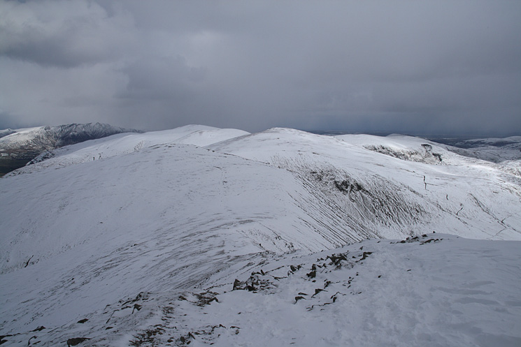 White Side, Raise and the Dodds from Helvellyn Lower Man's summit