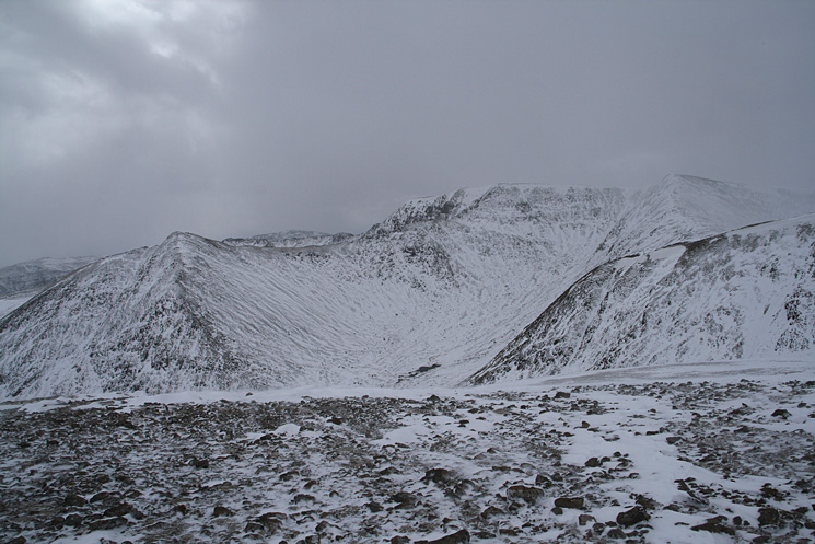 Catstycam with Swirral Edge leading onto Helvellyn