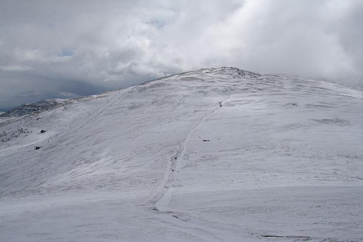 Raise from our ascent of Stybarrow Dodd with the ski run and lift on the left