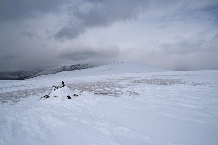 Looking north to Great Dodd and Blencathra from Stybarrow Dodd's summit