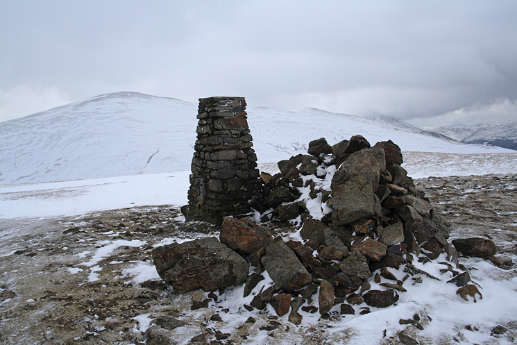 Clough Head's summit looking to a now clear Great Dodd
