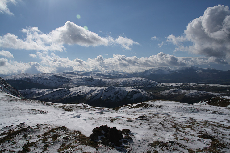 The central fells from highest summit of Threlkeld Knotts