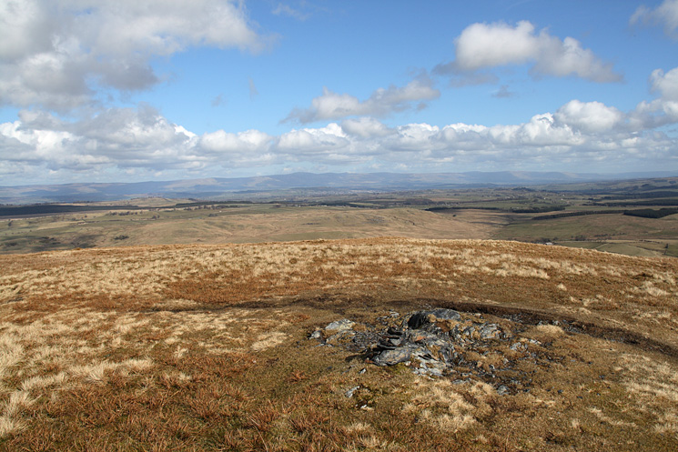 The North Pennines from Souther Fell's summit