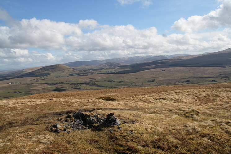 Great Mell Fell and the north end of the High Street ridge from Souther Fell's summit