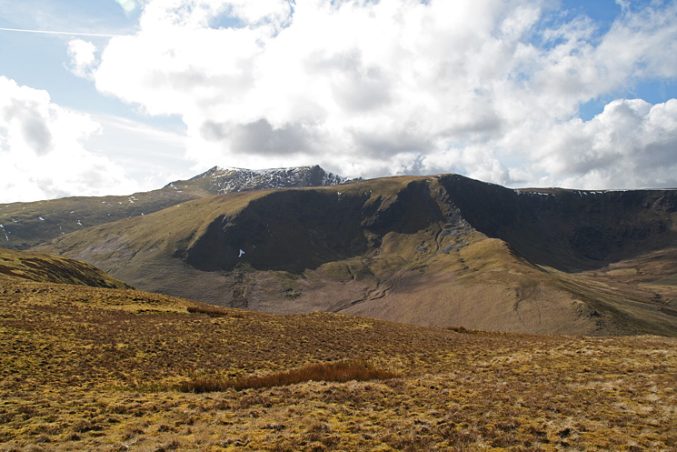 Bannerdale Crags with Blencathra behind