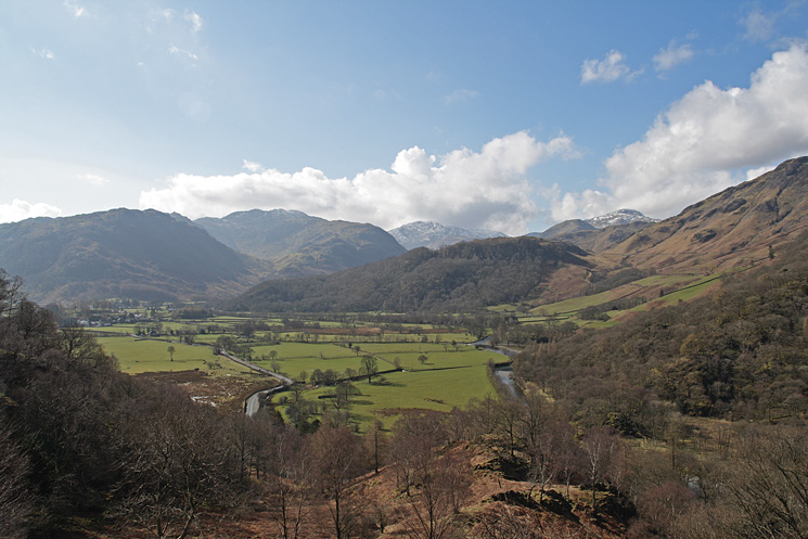 The view up Borrowdale from the ascent
