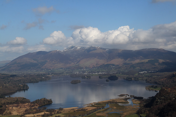 Skiddaw and Derwent Water from King's How