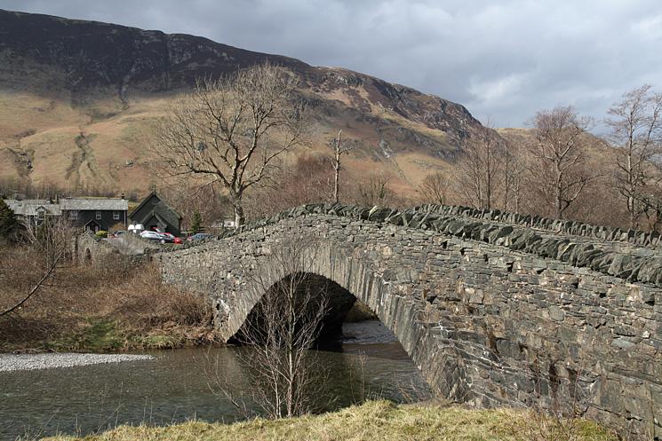 The double bridge over the River Derwent at Grange