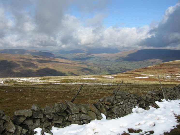 Looking down towards Dentdale from Whernside