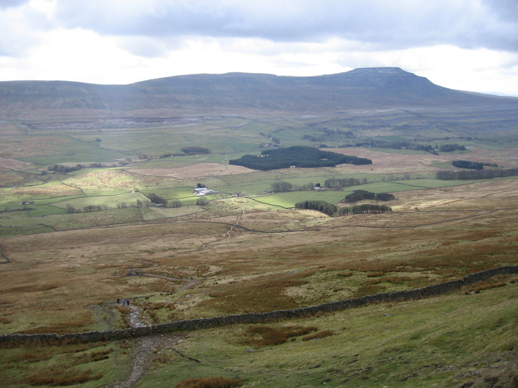 Ingleborough from the descent to Hill Inn