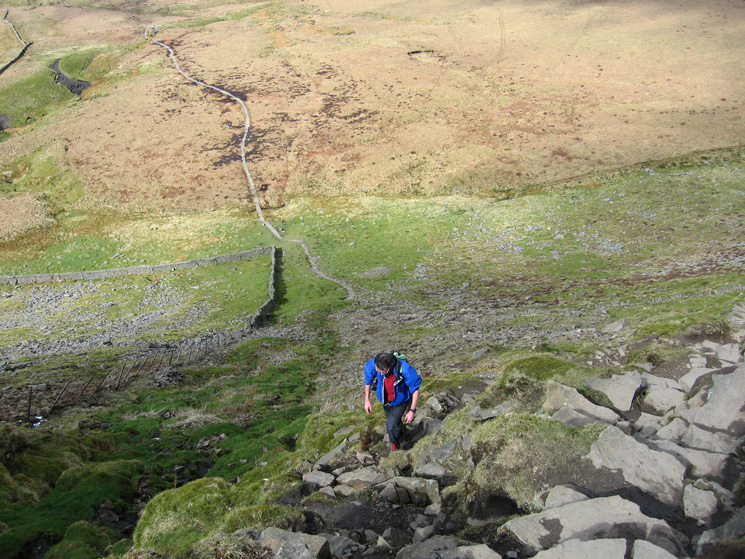 Looking back down the steep bit