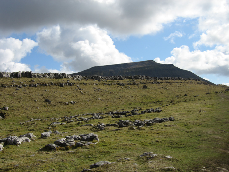 Looking back to Ingleborough from Southerscale Scars