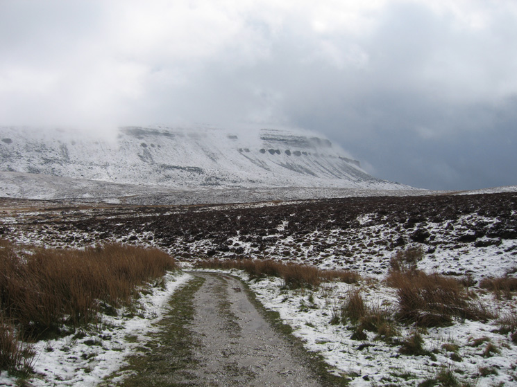 Looking back to Pen-y-ghent