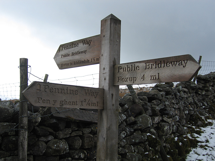 1.5 miles to Horton-in-Ribblesdale, it felt further