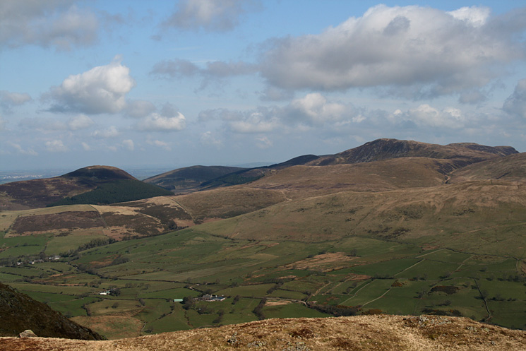 Knock Murton and Blake Fell from Crag Fell's summit