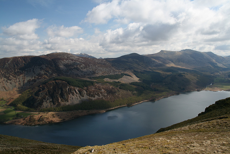 Looking across Ennerdale Water to Great Borne, Starling Dodd, Red Pike, High Stile and High Crag
