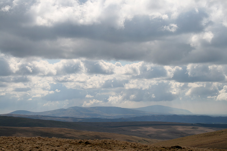 The view south to the Devoke Water fells and Black Combe