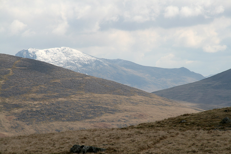 Snow on Scafell with Slight Side on the right