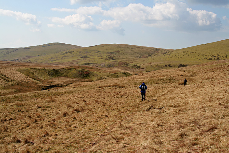 Swarth Fell and Burn Edge, we are heading for the track that leads to the right hand col