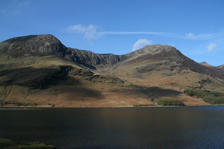 Looking across Buttermere to High Crag and High Stile