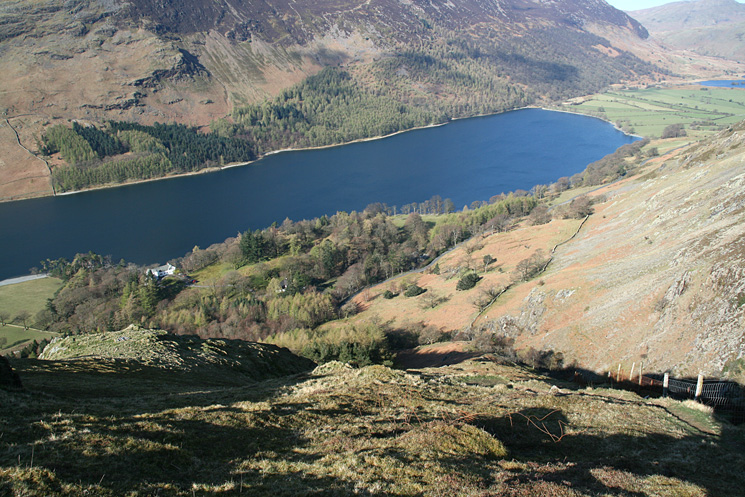 Looking back down on Buttermere