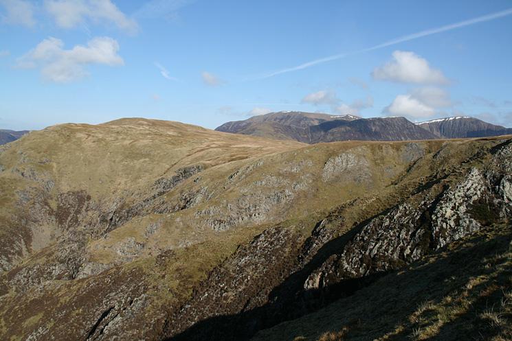High Snockrigg with Grasmoor, Wandope and Eel Crag seen over Buttermere Moss