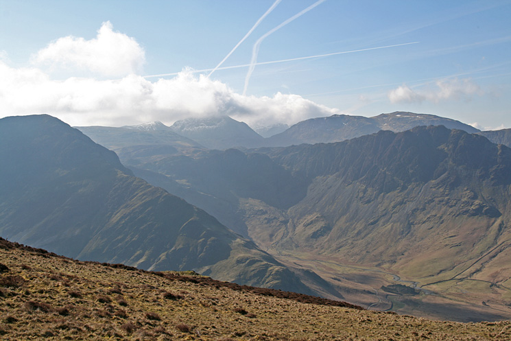 Fleetwith Pike and Haystacks with Great Gable and Kirk Fell behind