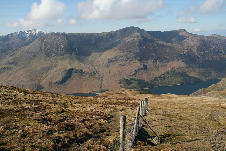 The High Stile ridge with Pillar behind on the left