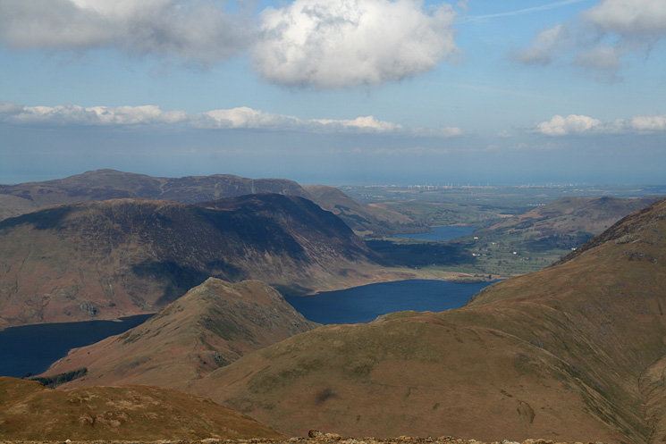 Rannerdale Knotts, Crummock Water, Mellbreak and Loweswater from Robinson's summit
